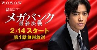 WOWOWプライム 日曜オリジナルドラマ 連続ドラマW『メガバンク最終決戦』